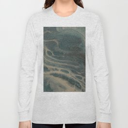 White Rivers, Acrylic Pour Long Sleeve T-shirt