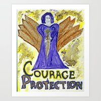 Angel of Courage & Protection Art Print