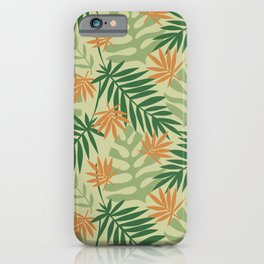 Tropical Palms - Green iPhone Case