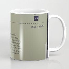 Air-Raid Shelter Sign Coffee Mug