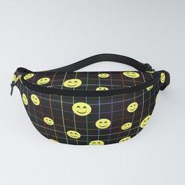 Colorful Smiley Emoji 4 - black Fanny Pack