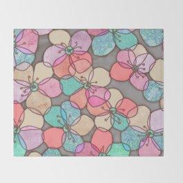 It's Always Summer Somewhere - bright poppy floral Throw Blanket