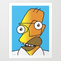 homer Art Prints featuring HOMER PICASSO by Laertis Art