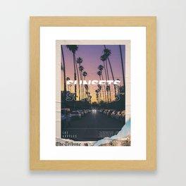 Sunsets Framed Art Print
