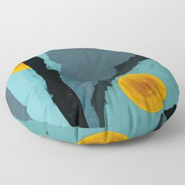 Turquoise Twelve Floor Pillow