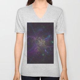 fractal glitter shroud clumps Unisex V-Neck