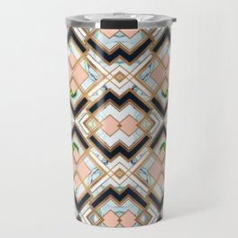 Art deco geometric pattern Travel Mug