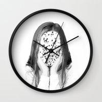 dreamer Wall Clocks featuring Dreamer by infloence