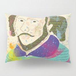 Portrait of William Shakespeare-Hand drawn Pillow Sham