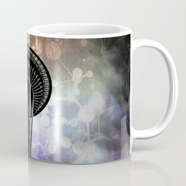 Space Needle - Seattle Stars and Clouds at Night Coffee Mug