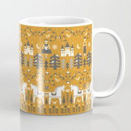 Yellow + Gray Fairy Tale Coffee Mug