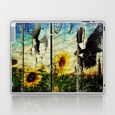 flowers and the crow Laptop & iPad Skin