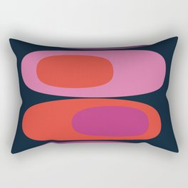 Mellow Out - 70s retro throwback trendy vintage style orb stone pebbles 1970's Rectangular Pillow