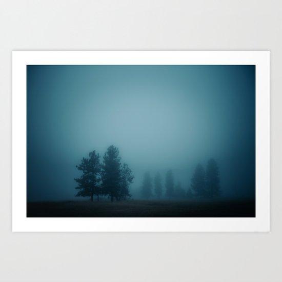 Silent Morning, Fog Art Print