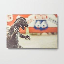 Godzilla Attacks! Metal Print