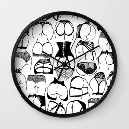 Lingerie Butts Wall Clock