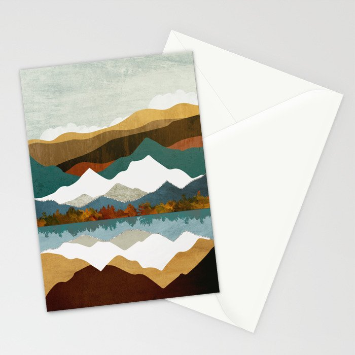 Winter Lake Stationery Cards