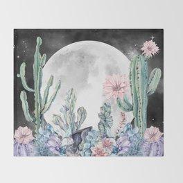 Desert Nights Gemstone Oasis Moon Night Throw Blanket