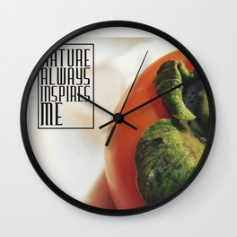 Nature always inspires me (persimmon) Wall Clock