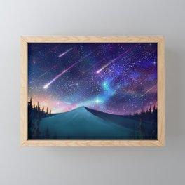 Falling Star Framed Mini Art Print