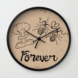 Die Hard Romantic Wall Clock