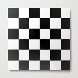 Checkerboard (LF) - (Collection Black & White) Metal Print