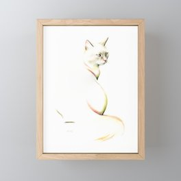 Elegant Cat Framed Mini Art Print