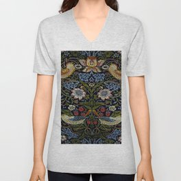 Art work of William Morris 2 Unisex V-Neck
