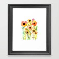 Peony field Framed Art Print