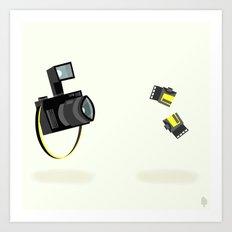 Camera & Film Art Print