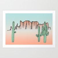 arizona Art Prints featuring Arizona by Mrs. Ciccoricco