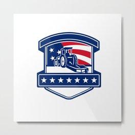 Brush Hogging Services USA Flag Badge Metal Print