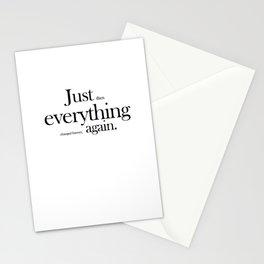 Six word memoir Stationery Cards