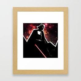 Darth, Dark, Black Framed Art Print