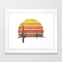 Runnin' Into The Sun Framed Art Print