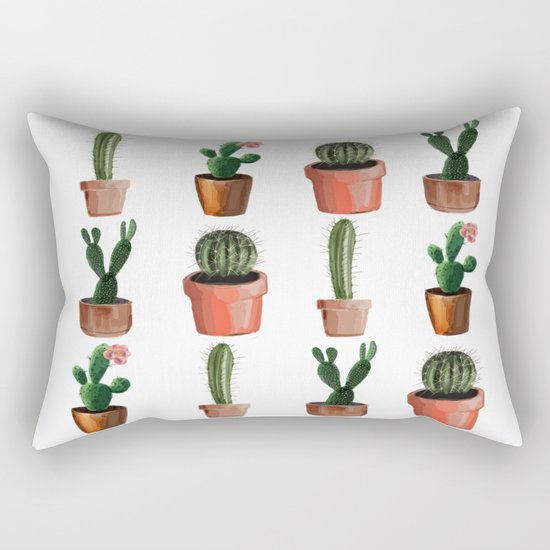 Various Cacti Rectangular Pillow