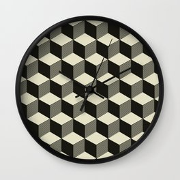 Metatron Cubes pattern 02 Wall Clock