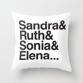RBG & the Women of SCOTUS Throw Pillow