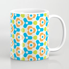 Retro Geometric Kaleidoscopic Seamless Pattern Coffee Mug