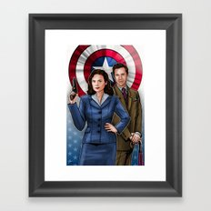 Peggy and Jarvis Framed Art Print