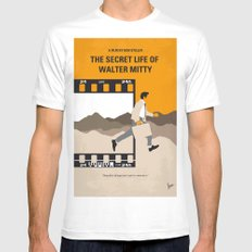 No806 My The Secret Life of Walter Mitty minimal movie poster Mens Fitted Tee MEDIUM White