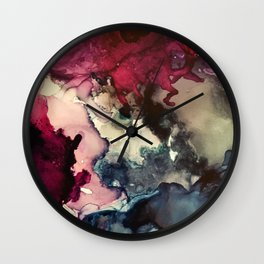 Dark Inks - Alcohol Ink Painting Wall Clock