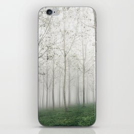 The Woods Are Foggy and Lonely iPhone Skin