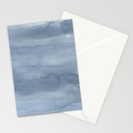 Pastel blue gray white watercolor hand painted ombre Stationery Cards