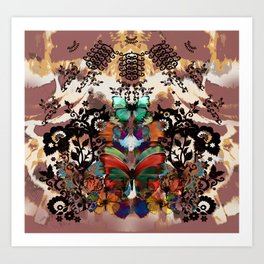Lace & Butterflies Mix Art Print