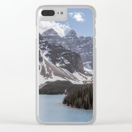 Landscape Photography Lake Moraine Mountain ridge Clear iPhone Case