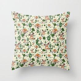 Fennec Foxes Throw Pillow