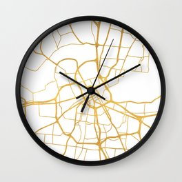NASHVILLE TENNESSEE CITY STREET MAP ART Wall Clock