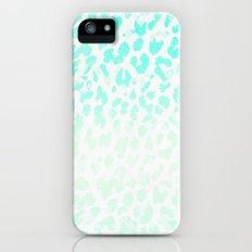 Vintage Teal Leopard Slim Case iPhone (5, 5s)
