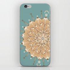 Sand and Turquoise Seashore Mandala iPhone & iPod Skin